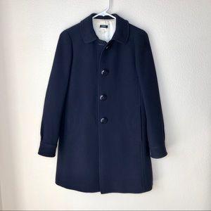 J crew. Navy blue single breasted pea coat. Sz. 2